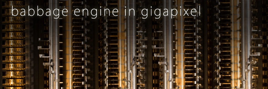 Babbage Difference Engine in Gigapixel